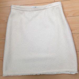 Banana Republic women US SZ 4P cream wool skirt